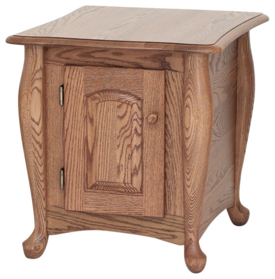 Solid Oak Queen Anne End Table Side Tables And End Tables By The Oak Furniture Shop