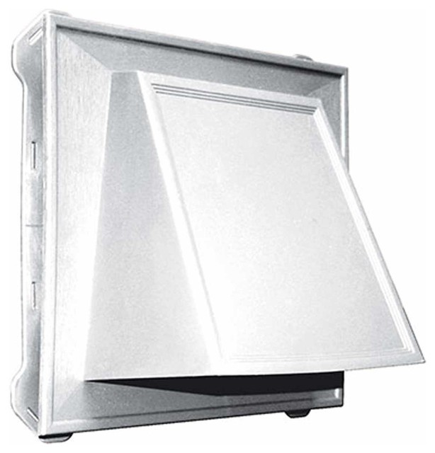 8 hooded vent cover only white traditional exterior for Exterior vent covers