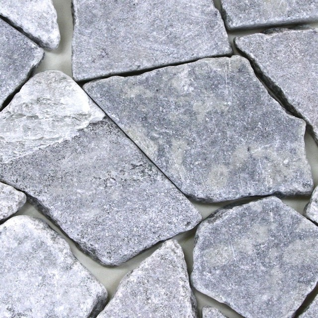 Slate rocks 34 lbs grey contemporary landscaping for Grey rocks for landscaping