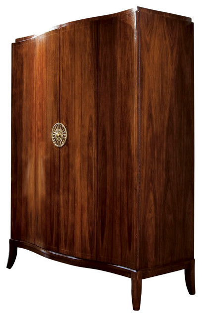 American Drew Bob Mackie Signature Serpentine Armoire In Rosewood Traditional Armoires And