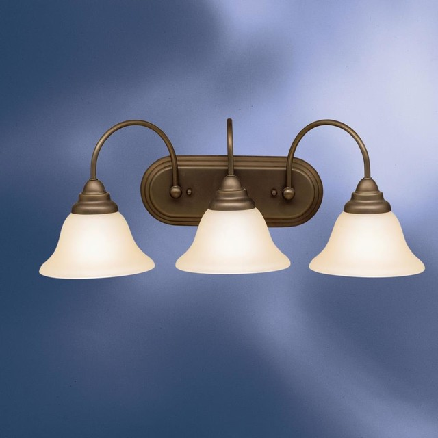 Kichler Lighting 5993oz Telford Three Light Bath Fixture Transitional Bathroom Vanity
