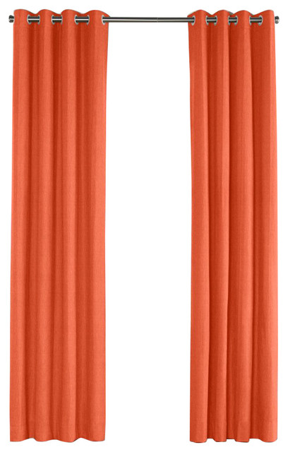 Coral linen grommet curtain contemporary curtains by loom decor