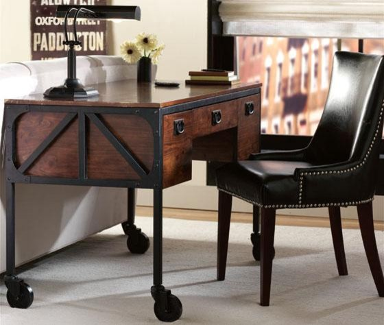 Industrial Empire Desk Eclectic Desks And Hutches By
