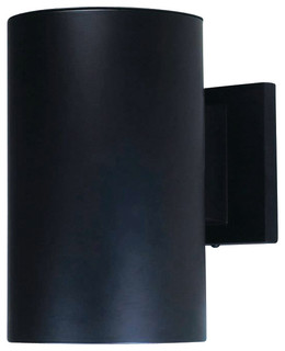Outdoor Cylinder Wall Mount, Black, Down Light - Outdoor ...