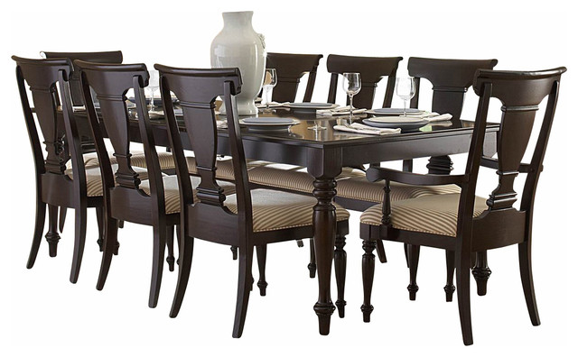 Homelegance Inglewood Rectangular Dining Table In Cherry Traditional Dining Tables By