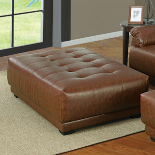 Affordable Tan Leather Ottoman With Leather Ottoman Coffee Table