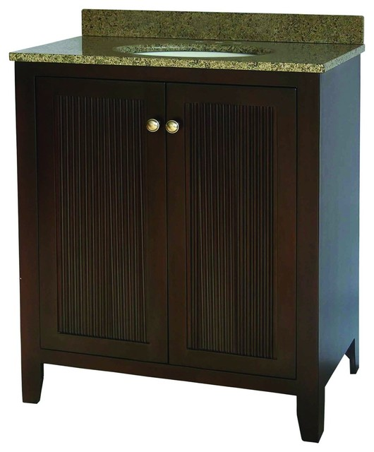 "Pegasus GP848A-30 30"" Vanity Set in Dark Brown Cherry with ..."