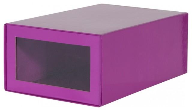 12 schuhkartons f r shoe tree violett bauhaus look. Black Bedroom Furniture Sets. Home Design Ideas