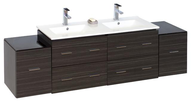 mount vanity base only in dawn grey 74 x18 modern bathroom vaniti