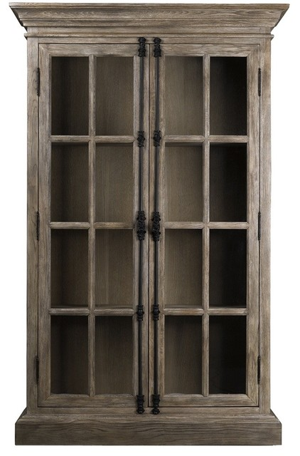 Parisian Oak Display Cabinet - Traditional - Display And ...