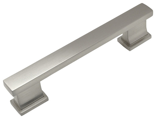 Cosmas contemporary drawer pull satin nickel contemporary cabinet and drawer handle pulls - Contemporary cabinet pulls ...
