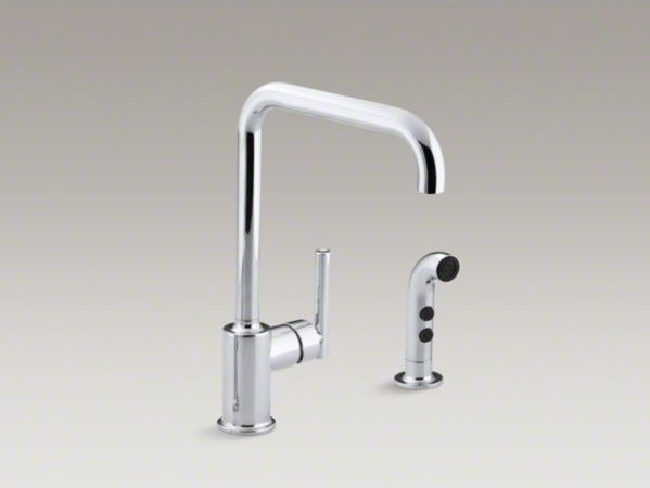KOHLER Purist(R) two-hole kitchen sink faucet with 8