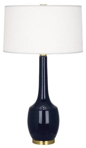 robert abbey mb701 delilah 1 light table lamp in midnight blue with