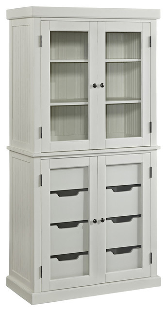 Nantucket Distressed White China Pantry