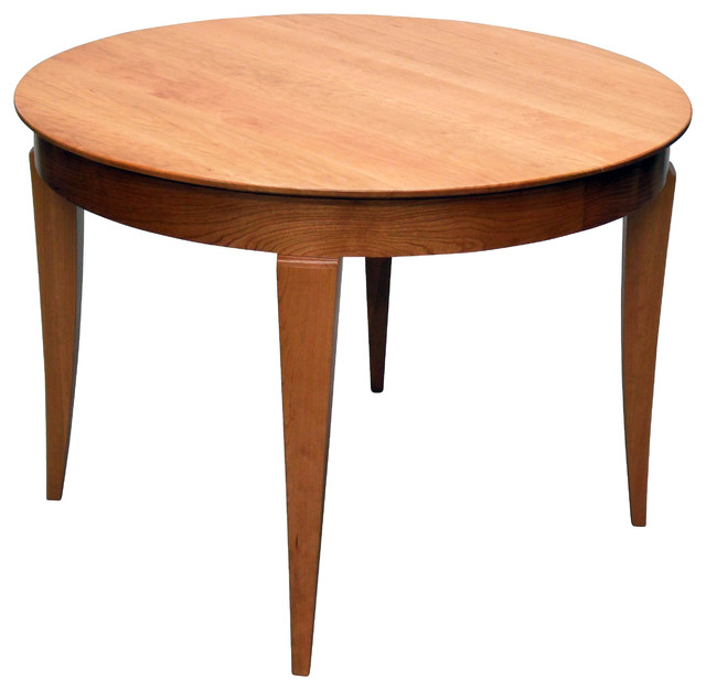 42 round butterfly leaf extension table transitional