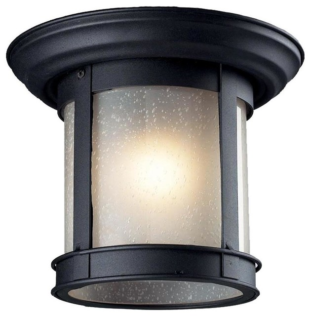 Outdoor 1 Bulb Flush Mount Light contemporary outdoor