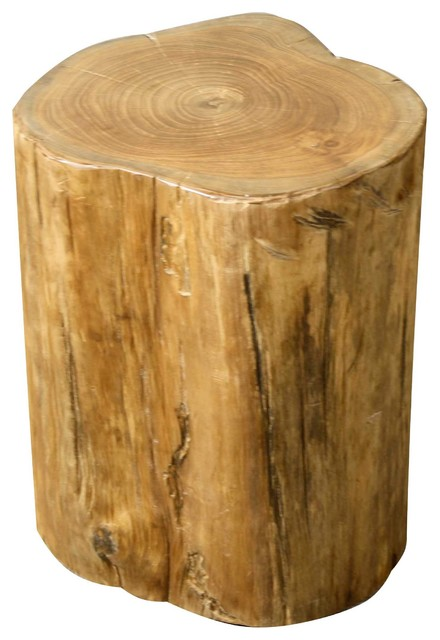 Tree Stump Stool Natural Rustic Accent And Garden