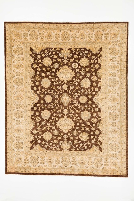Traditional Chobi Ziegler Area Rug Brown Gold And Beige