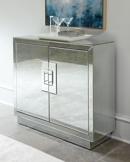 """""""Lily"""" Mirrored Chest - Modern - Nightstands And Bedside Tables - by Horchow"""