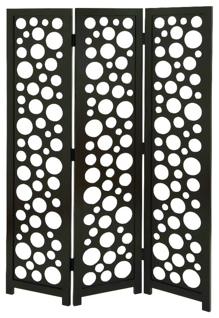 3 Panel Room Divider Screen Bubble Circle Designs Home