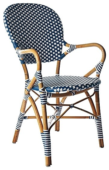 Navy Riviera Armchair Traditional Dining Chairs By Serena Lily
