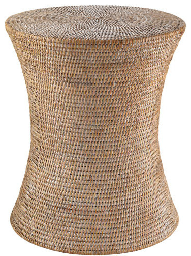 wicker accent table 2