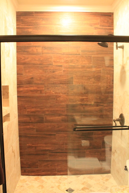 Wood Tile Shower - Contemporary - Bathroom - Dallas - by McKinney