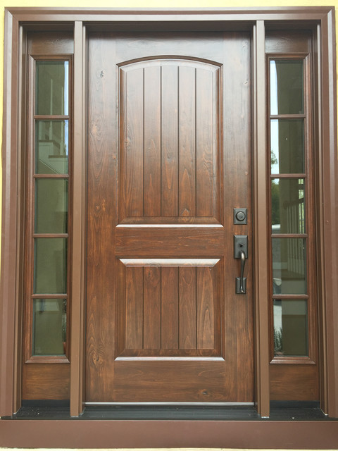 Fiberglass Front Entry Door - Traditional - Front Doors - by Zen Windows Carolina