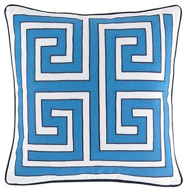 Happy Chic by Jonathan Adler Elizabeth Greek Key Pillow - Modern - Decorative Pillows - by JCPenney