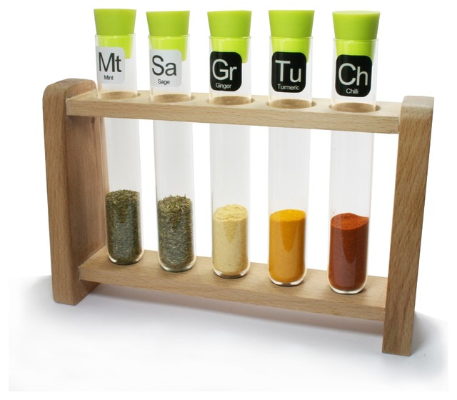 Test Tube Spice Rack Contemporary Jars And