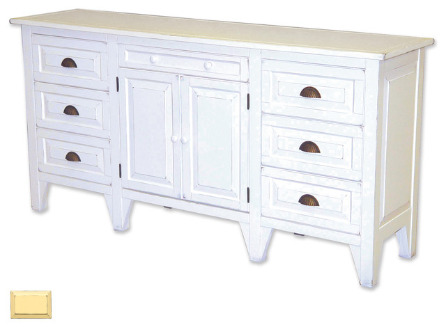 Cottage Style Sideboard Yellow Farmhouse Buffets And