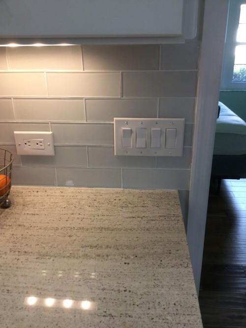 Cover up tile backsplash