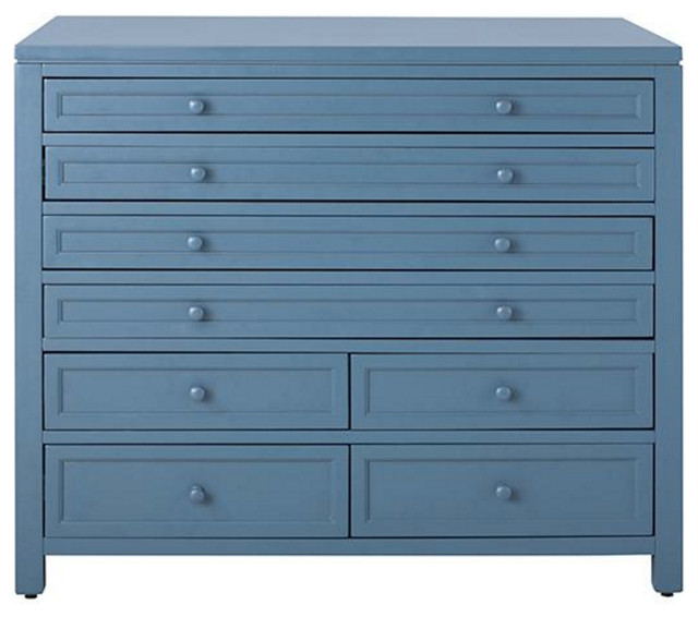 Eight Drawer Flat File Cabinet, Mariner - Transitional - Storage Cabinets - by Luxe Home Collection