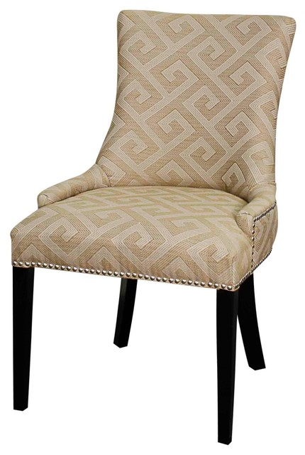 Charlotte Fabric Chair Wood Legs Fallow Meander Set of 6  : contemporary dining chairs from www.houzz.co.uk size 430 x 640 jpeg 54kB