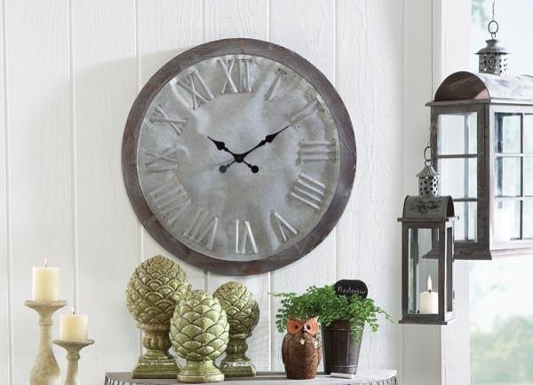 galvanized wall clock modern wall clocks. Black Bedroom Furniture Sets. Home Design Ideas