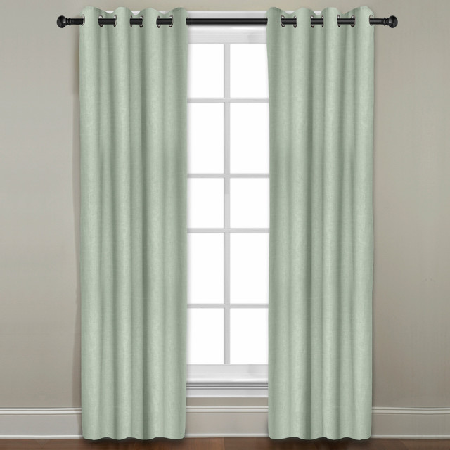Veratex Grand Luxe Sage All Linen Gotham Curtain Panel - Contemporary ...