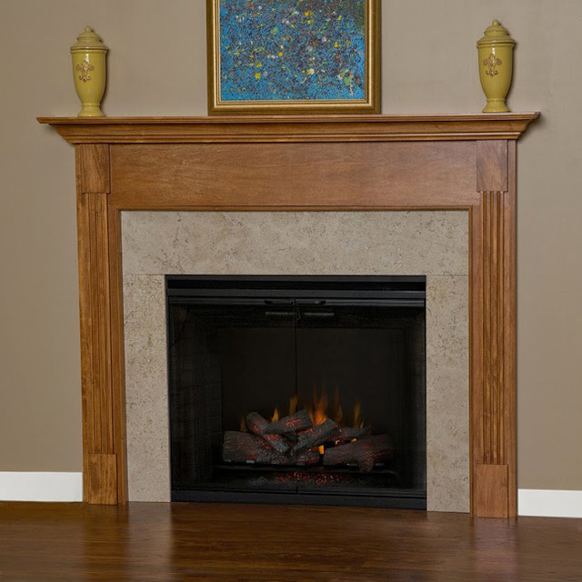 Appalachian Wood Fireplace Mantel Contemporary Indoor