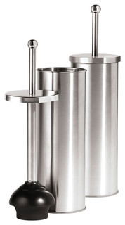 stainless steel plunger with holder modern toilet plungers holders. Black Bedroom Furniture Sets. Home Design Ideas