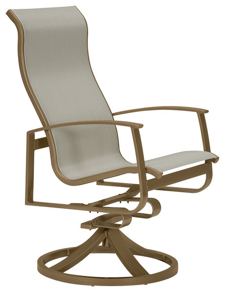 ... Sling Swivel Rocker Dining Chair - Traditional - Outdoor Lounge Chairs