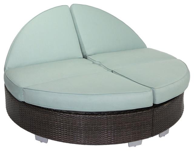 Signature Round Double Chaise With Sunbrella, Gray Dove