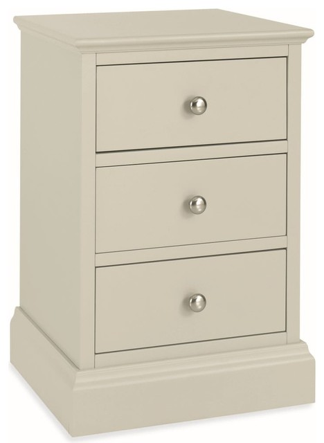 Bentley Designs Ashby Cotton Bedside Cabinet Traditional