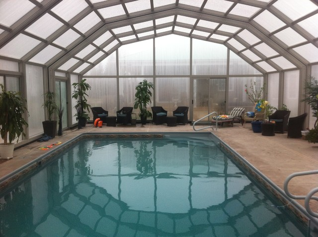 Indoor Pool Setting With Our Retractable Enclosures