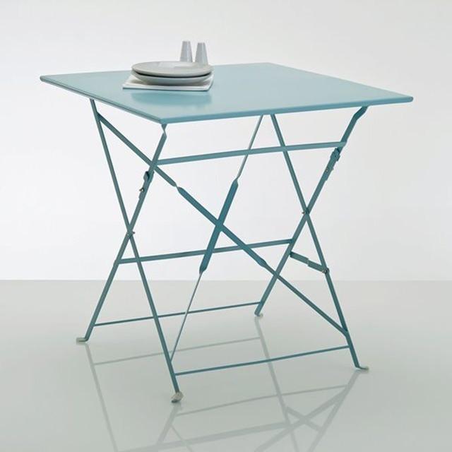 Table pliante, métal, 2 modèles - Contemporain - Table de Jardin