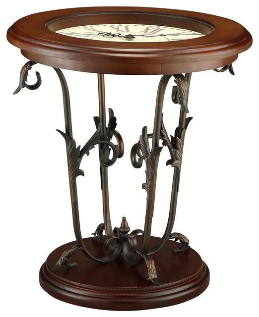 Crestview Charleston Clock Table Cvfzr1011 Traditional