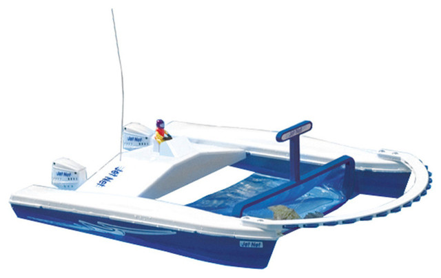 Jet Net Boat Pool Skimmer With Remote Control Pool Toys