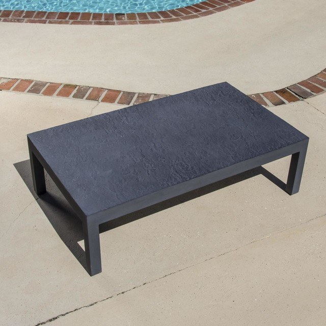 Camellia Cast Aluminum Patio Coffee Table Modern Outdoor Coffee Tables By Ultimate Patio