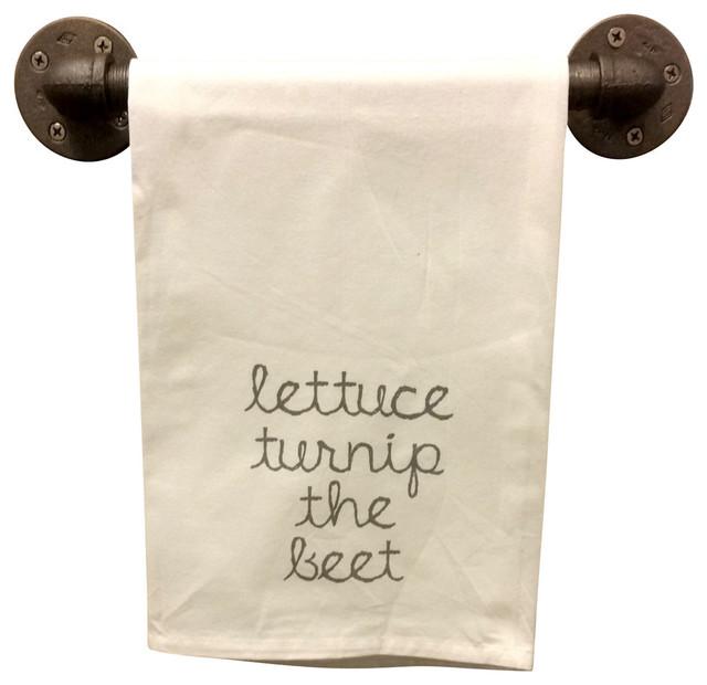 Flour Sack Tea Towel Lettuce Turnip The Beat