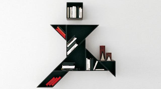 Biblioth que tangram contemporain biblioth que other metro par arlydesign for Bibliotheque meuble contemporain