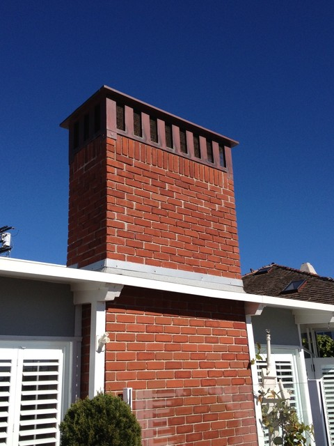 finished chimney caps chimney caps other metro by blue ridge roofing inc