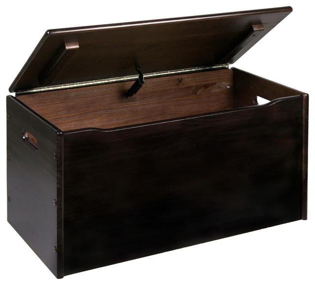 toy storage chest espresso finish a contemporary